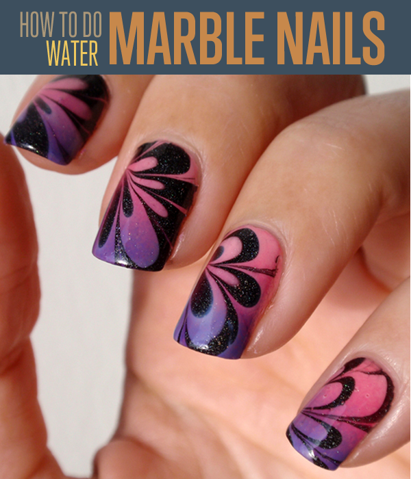 Water Marble Nail Art | Water marble nail art, Water marble nails ...