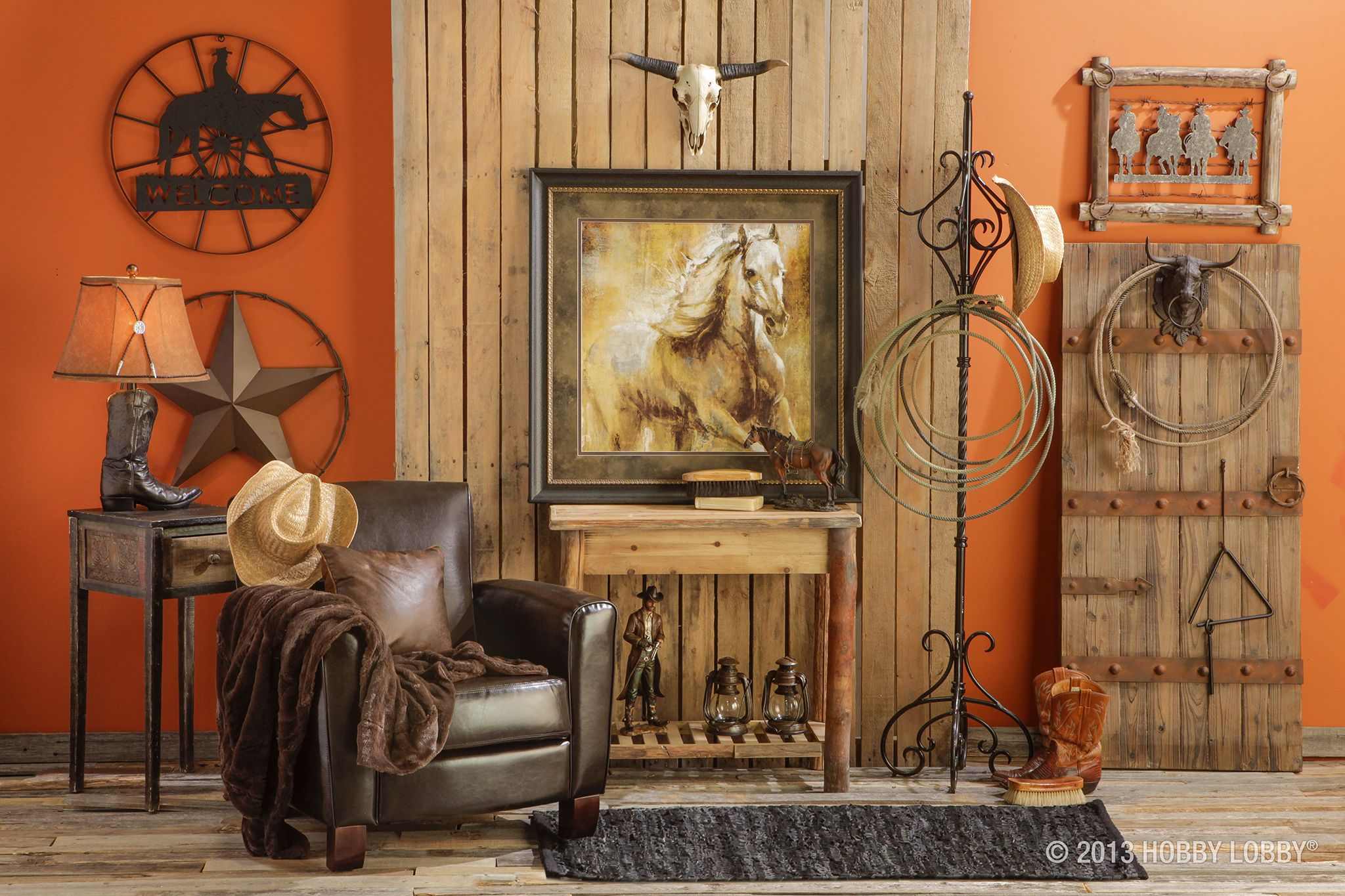 We love the use of old and new in this western retreat create character by adding in personal - Western decor ideas for living roommake a theme ...
