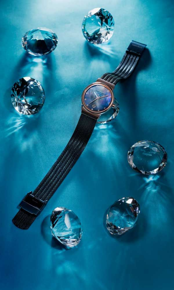 Aries Gold Camille 5002 Rose Gold Watch with Blue Pearl Dial USD$179 ...