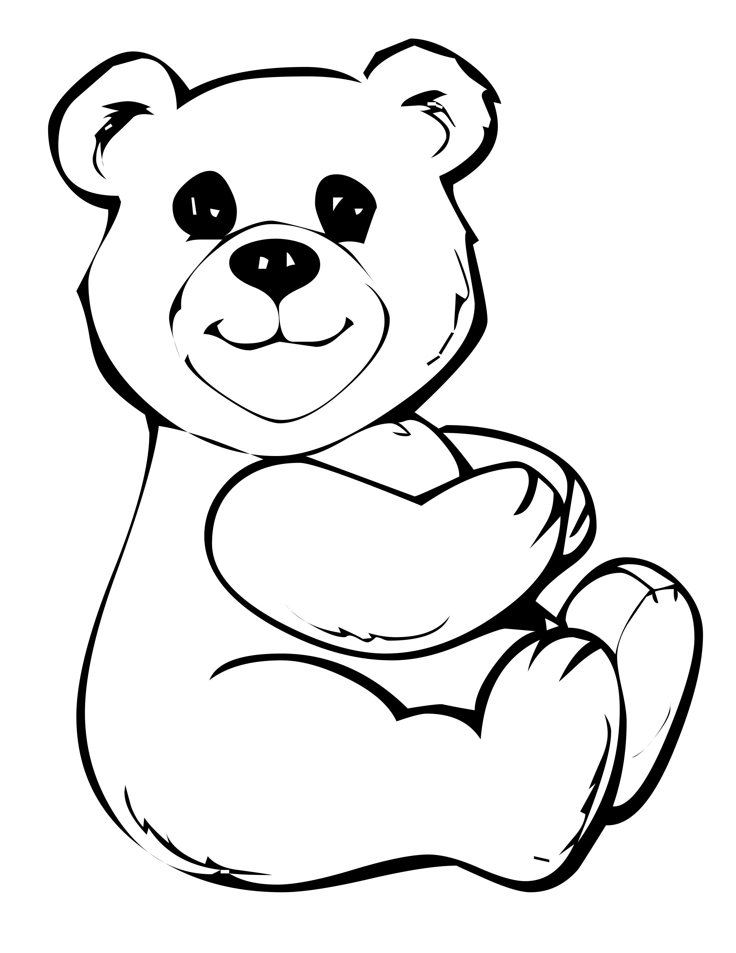 Study Free Printable Teddy Bear Coloring Pages For Kids