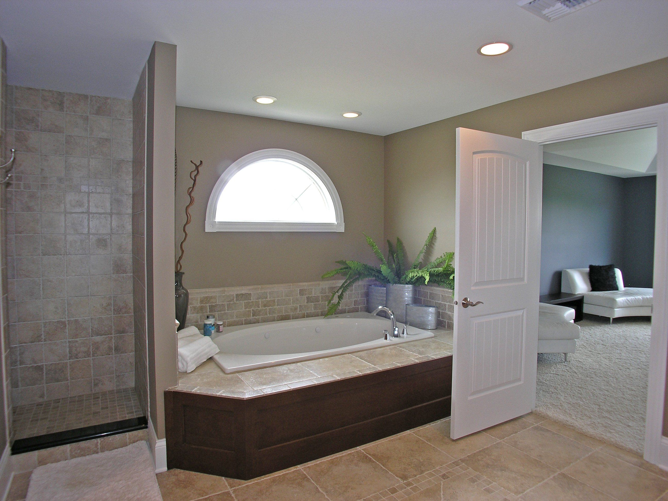 Master bath with whirlpool tub and separate shower stall | Master ...