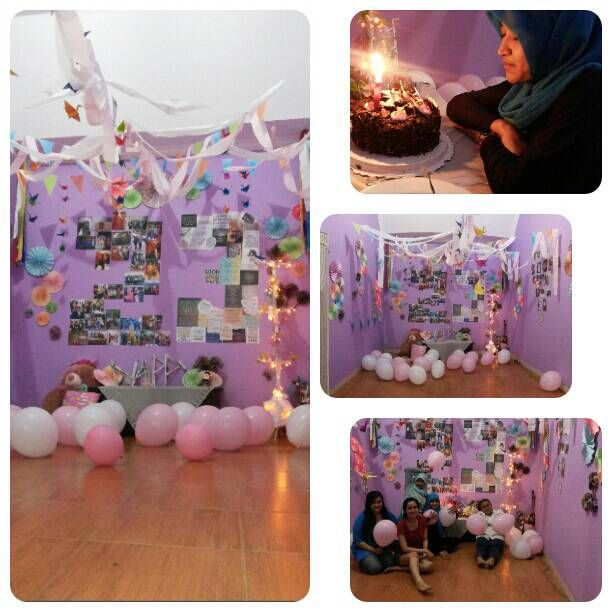 DIY my decoration idea for my friends surprise birthday party