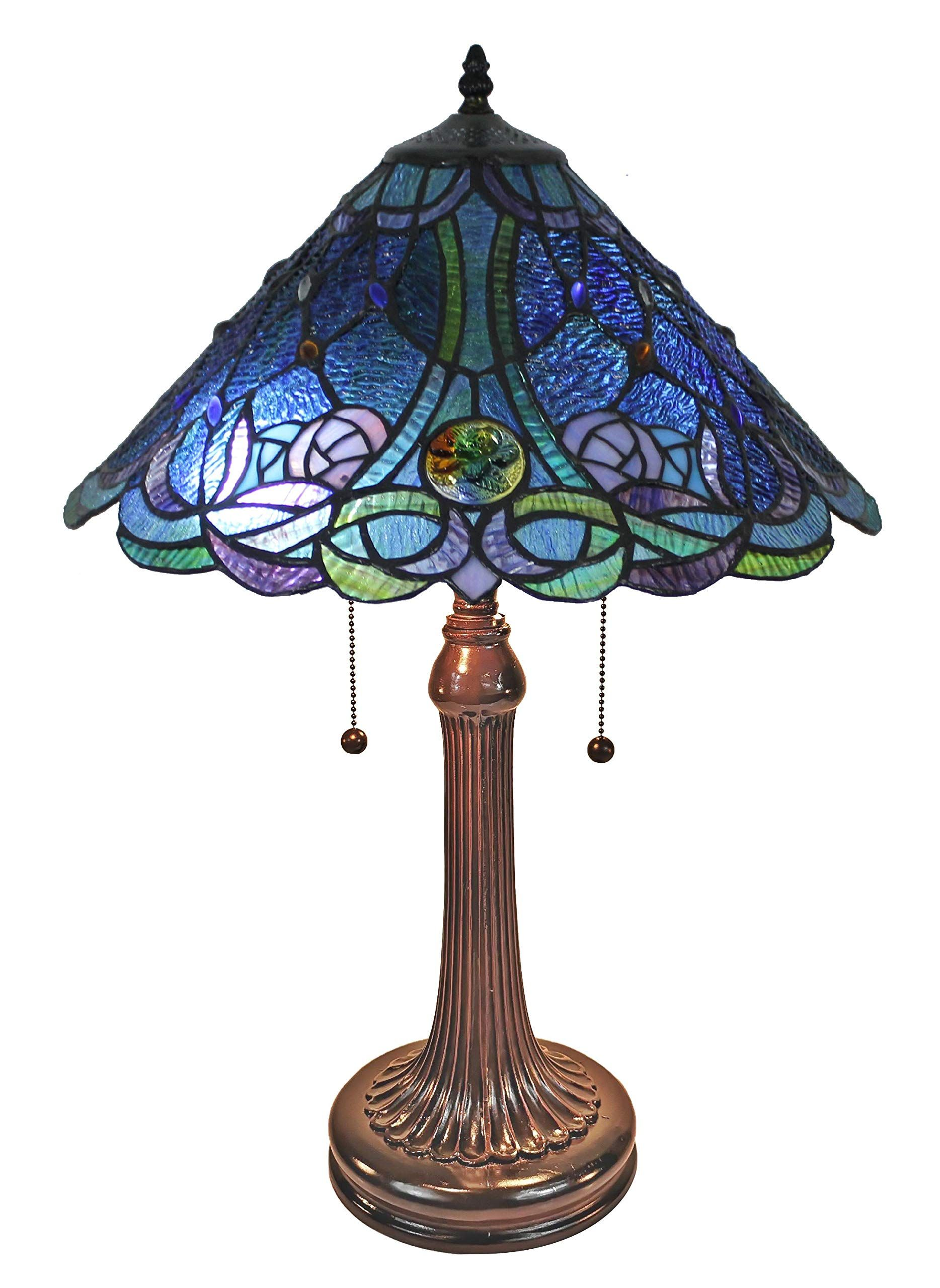 Amora Lighting Am1102tl16b Tiffany Table Lamp Blue More Info Could Be Found At The Image Url Th Tiffany Style Table Lamps Table Lamp Tiffany Table Lamps