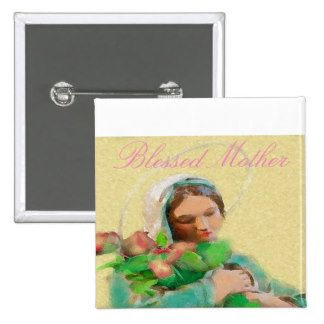 """""""Blessed Mother"""" Design Button"""