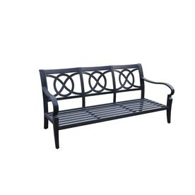 allen roth newstead gray textured aluminum slat seat on lowes paint sale today id=37967