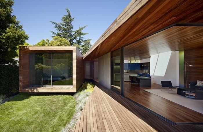Maison design californienne baie vitree
