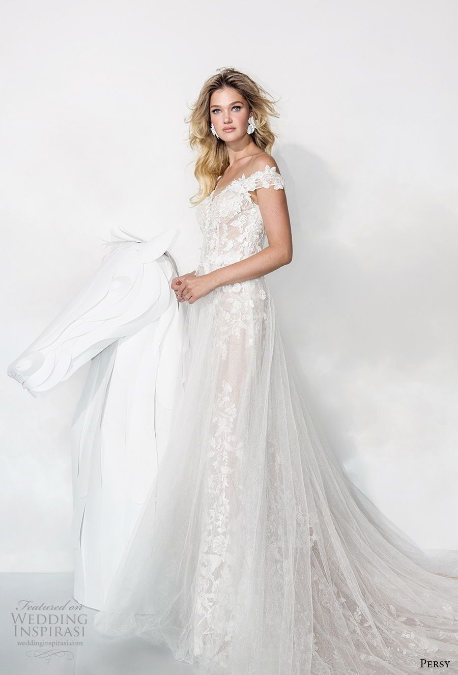 Lace wedding dress with back out january 2019 Persy Couture  Wedding Dresses u ucAffaire de Fleursud Bridal