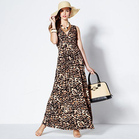 IMAN Global Chic Glam Maxi Dress