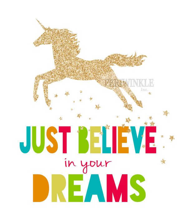 Darling Printable Featuring A Gold Glittered Unicorn Comes In Three Different Color Styles And Your