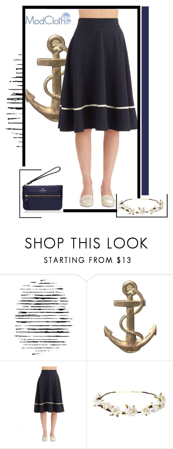 """ModCloth Nautical Steak of Sucess"" by vanaynayreed ❤ liked on Polyvore featuring moda, Camp, Cult Gaia, Kate Spade, women's clothing, women, female, woman, misses e juniors"