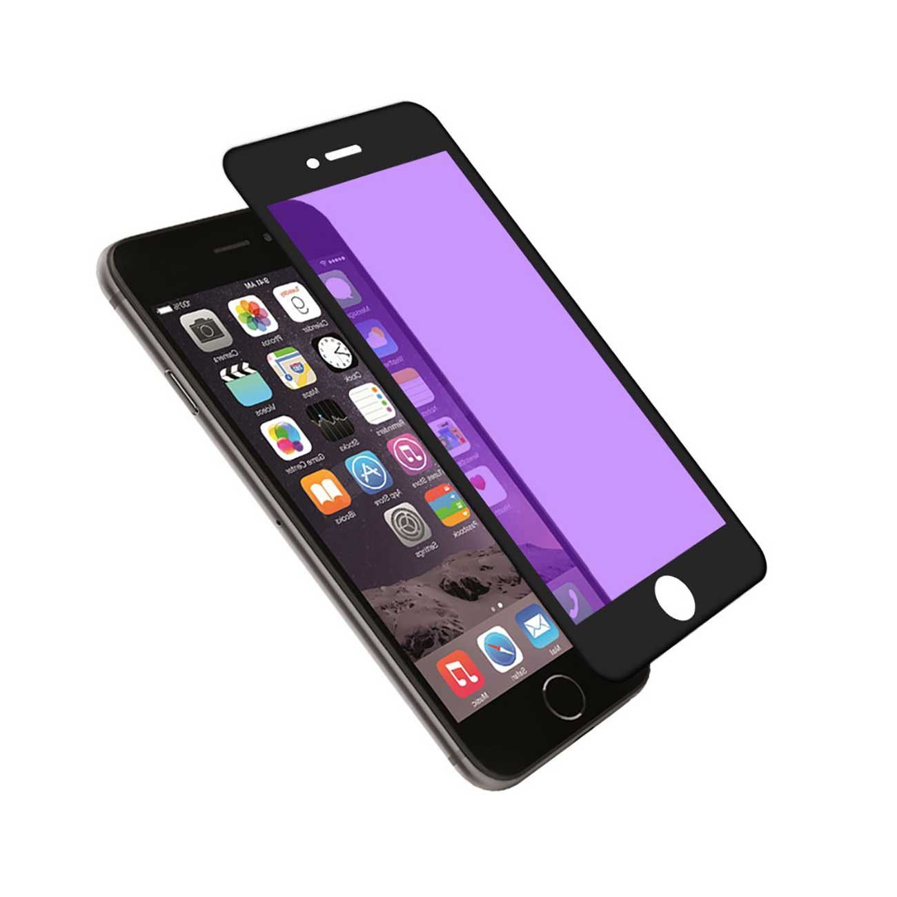 REIKO IPHONE 6 3D ANTI BLUE LIGHT FILTER TEMPERED GLASS SCREEN PROTECTOR IN BLACK