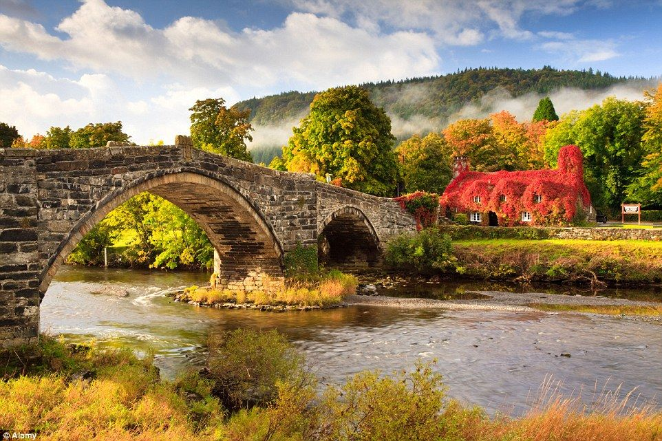 As the weather chills, the Ty Hwnt i'r Bont Tearoom inLlanrwst, Wales, becomes even more ...