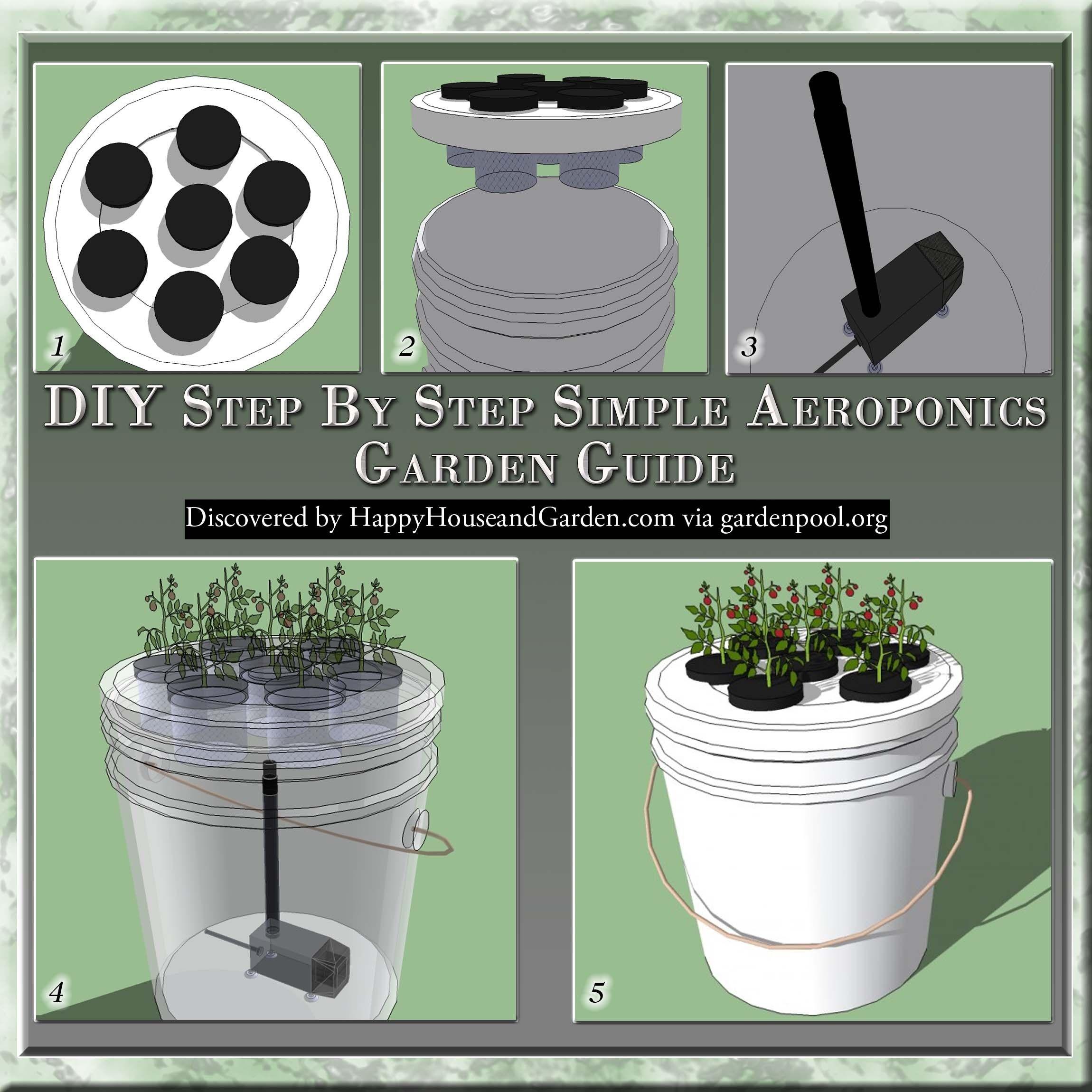 Diy Step By Step Simple Aeroponics Garden Guide Happy 400 x 300