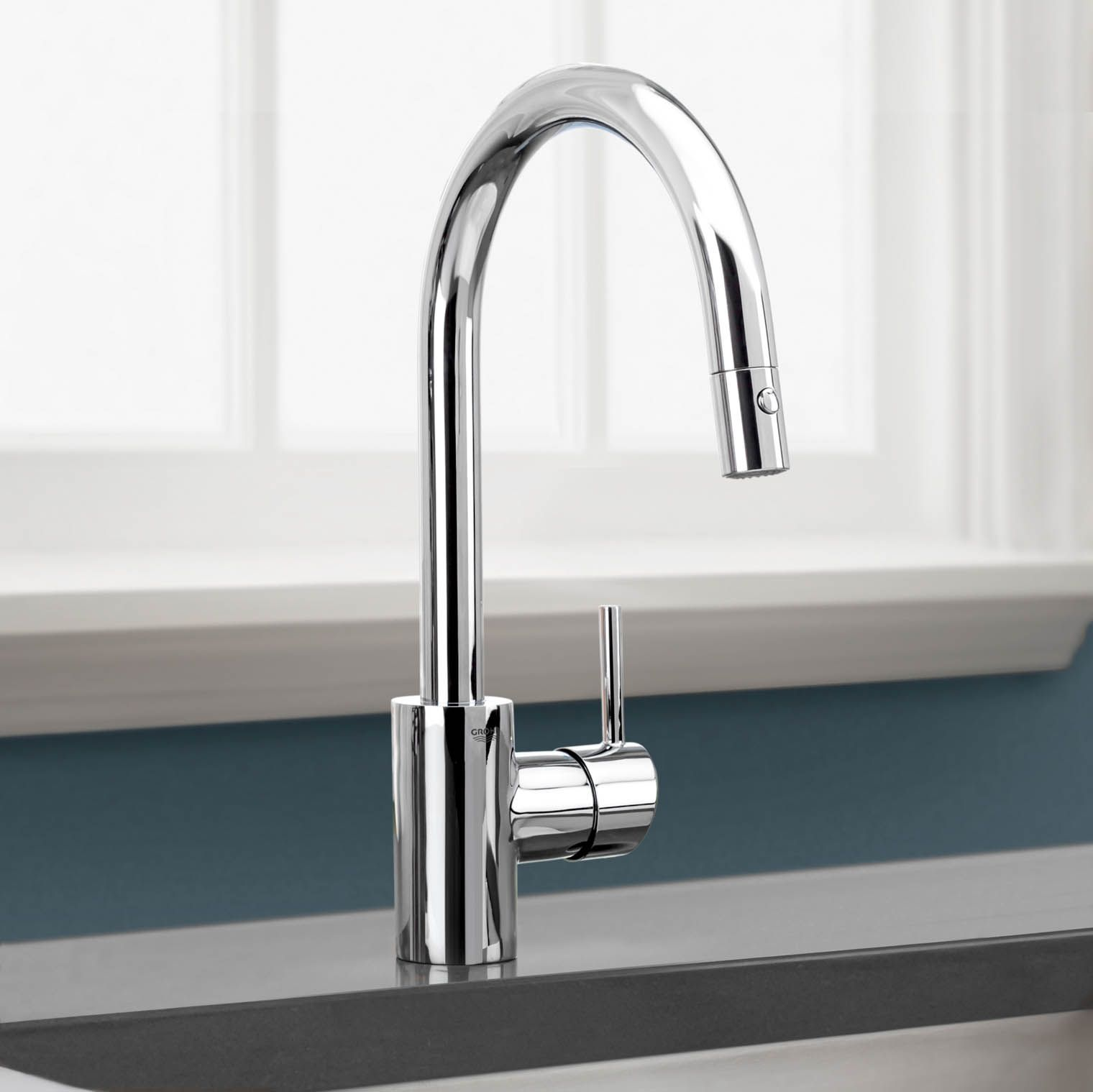 kitchen faucets stainless steel cabinet door replacement lowes faucet grohe concetto