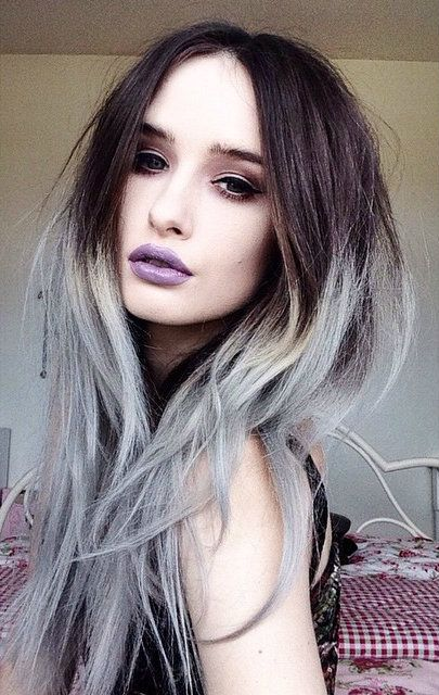pastel ombre dyed hair