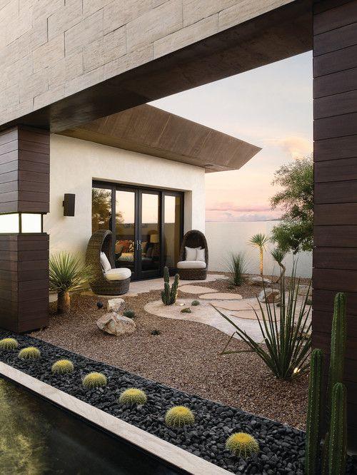 Ideas creativas jardines de cactus grises decoraciones for Jardines decoraciones
