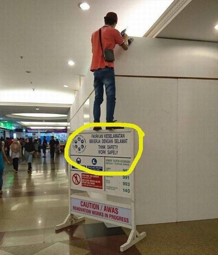 Funny signs thinksafety with images best