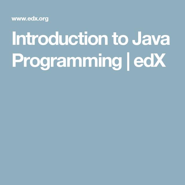 Introduction to Java Programming   edX   Kendra   Python