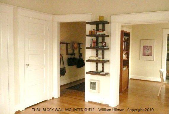 Thrublock Wall Mounted Modular Shelving System Smalll 2 By Wuda Modular Shelving Wall Mounted Shelves Shelving