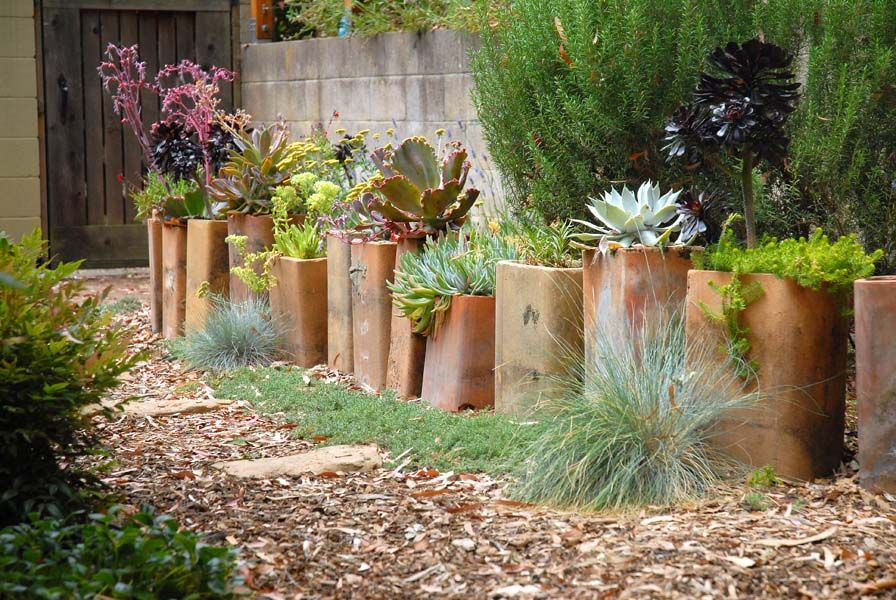 Designing A Succulent Garden The homeowner describes the chimney