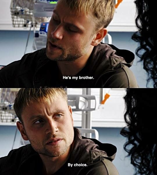 """Sense8  Wolfgang  """"He's my brother  And not by something as"""