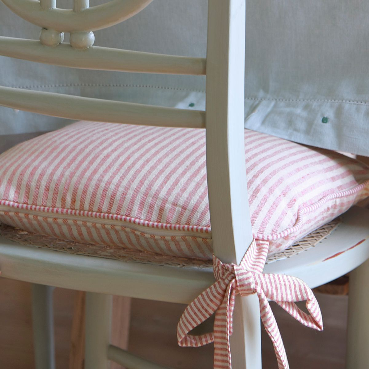 Red Natural Stripe Chair Cushion Striped chair, Chair
