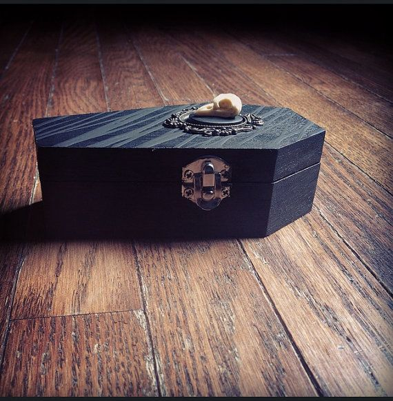 Raven Coffin Halloween Trinket Box by KRUELINTENTIONS on Etsy