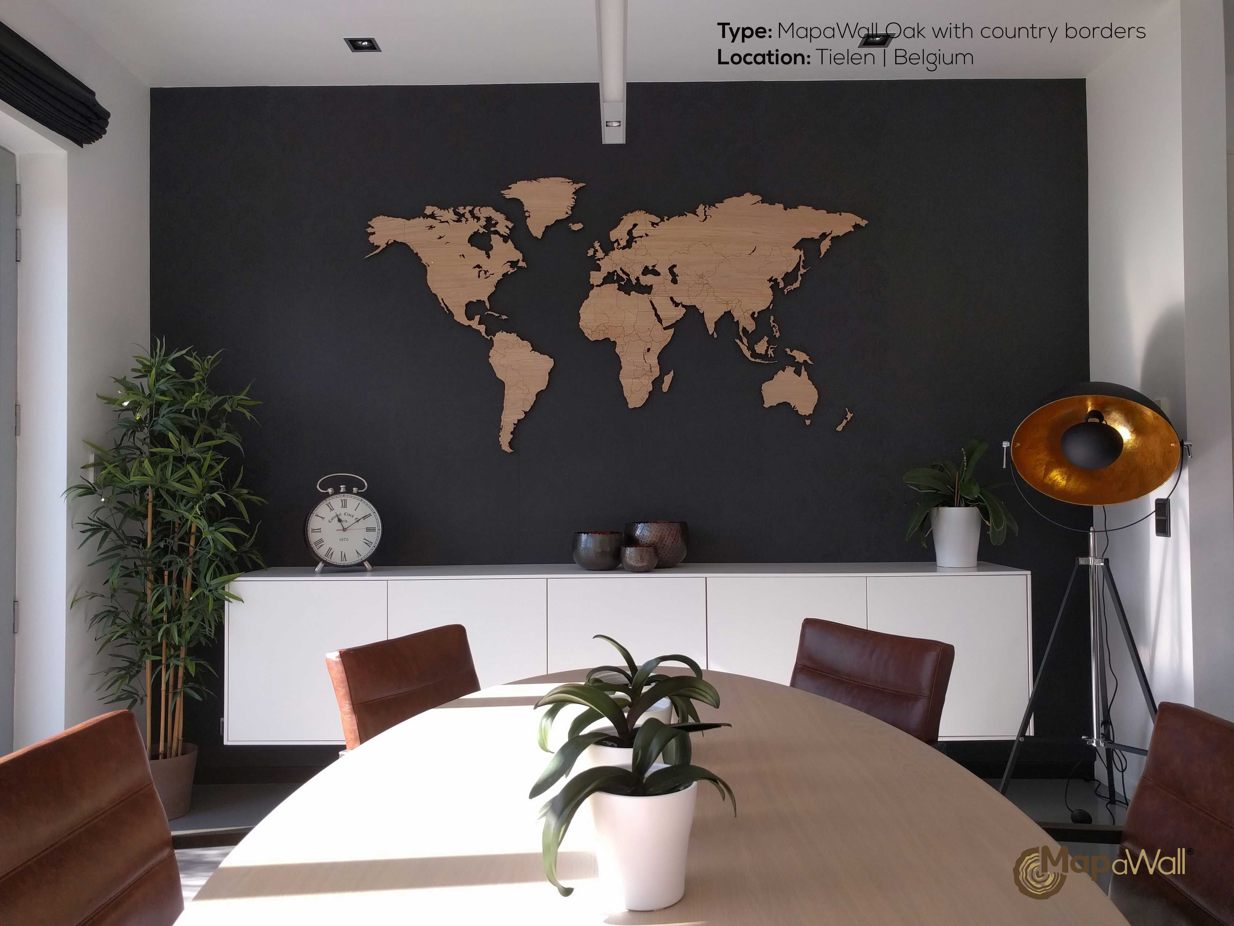 World map oak dark walls walls and lights the mapawall shown here is our oak world map with country borders placing the map on a dark wall really brings out the highly detailed borders of the gumiabroncs Images