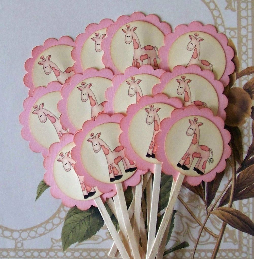 Baby Shower Cupcake Topper Food Pick Favor Vintage by bljgraves ...