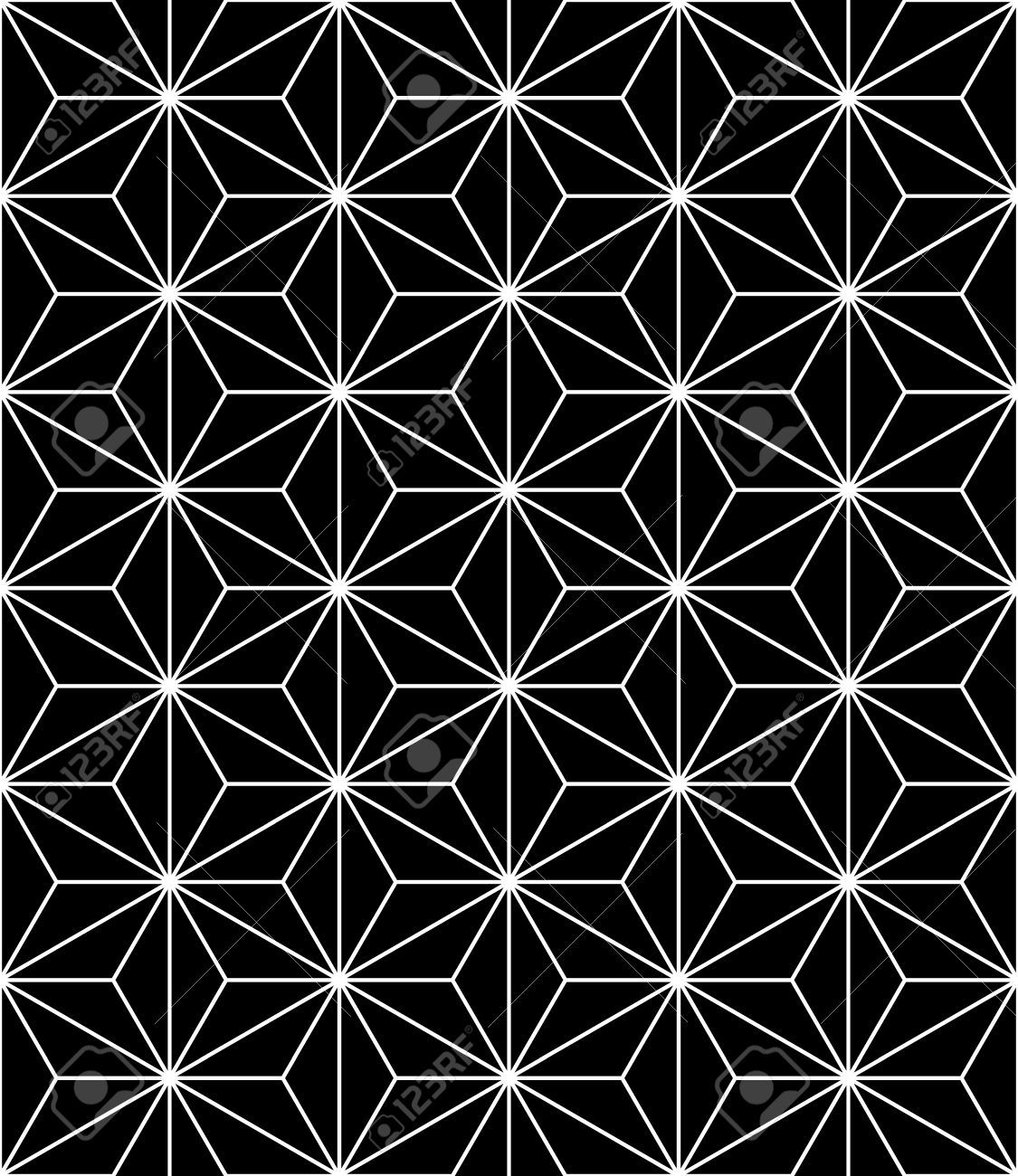 46815453 modern seamless sacred geometry pattern black and for Modern patterns black and white