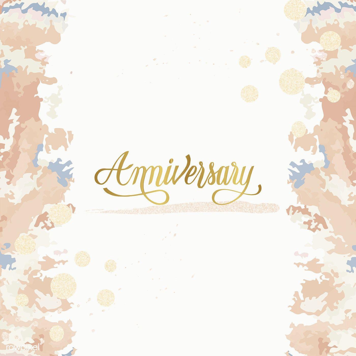 Download Premium Vector Of Pastel Wedding Anniversary Card Vector 533258 Wedding Anniversary Cards Pastel Wedding Anniversary Cards