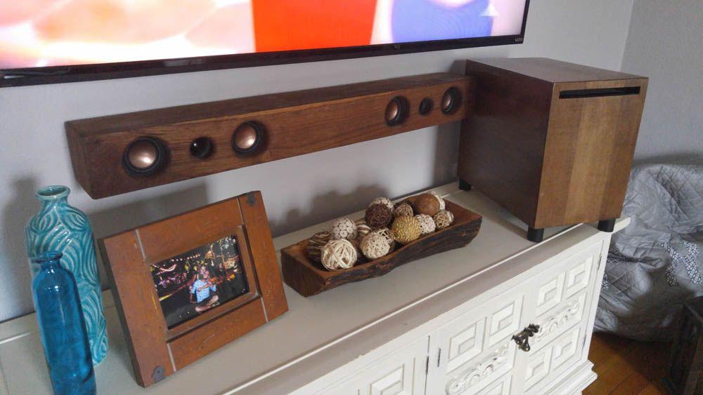 DIY 2 1 Soundbar and Subwoofer - Imgur   Speaker Builds