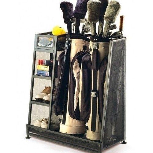Golf Club Storage Garage #2   Garage Golf Bag Storage Rack