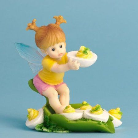 Amazon Com Enesco My Little Kitchen Fairies Fairie Eating Deviled