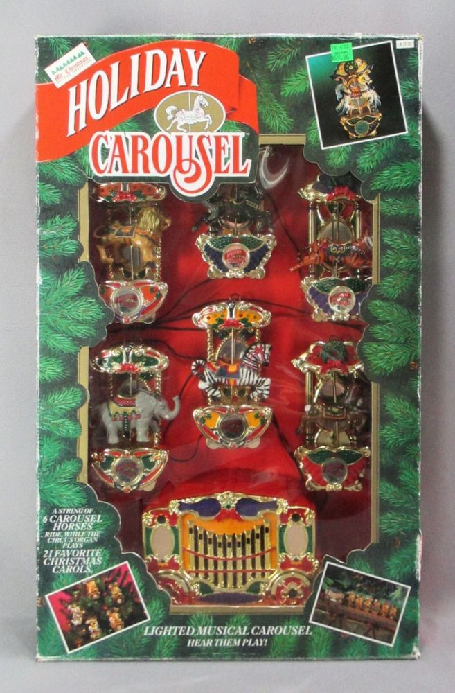 Mr Christmas Carousel.Details About Vintage Mr Christmas Holiday Go Round