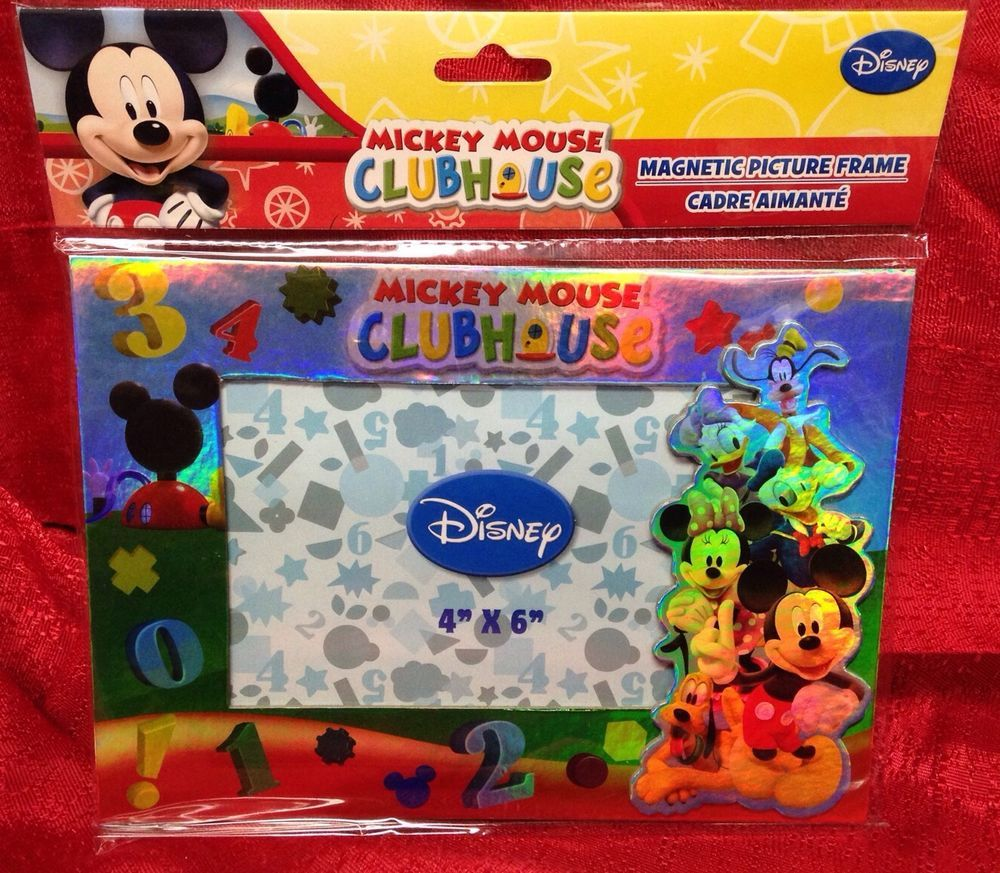 Disneys Mickey Mouse Clubhouse Magnetic Picture Frame 4 X 6 New In