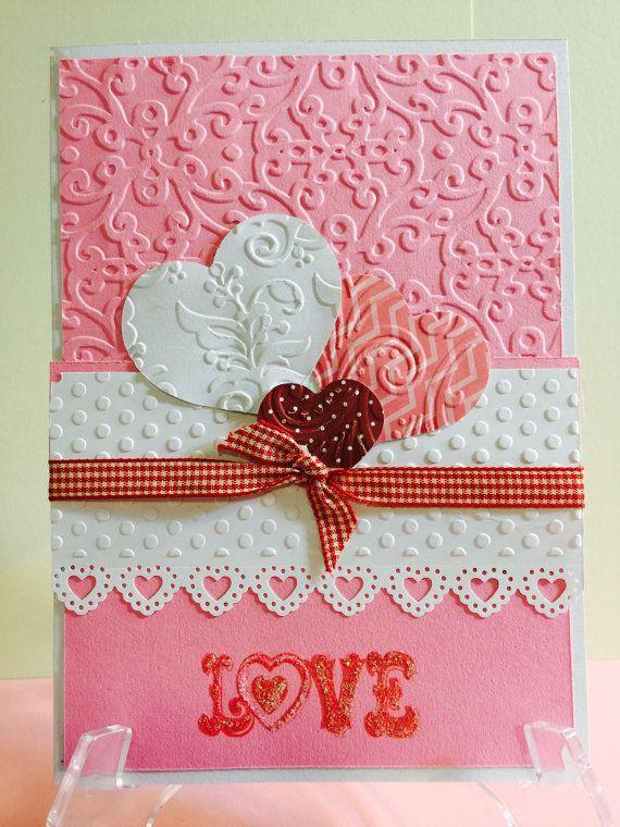 valentine's day elegant handmade greeting card beautiful