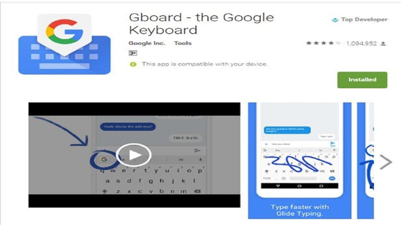 Gboard Google Keyboard reaches 500 million downloads
