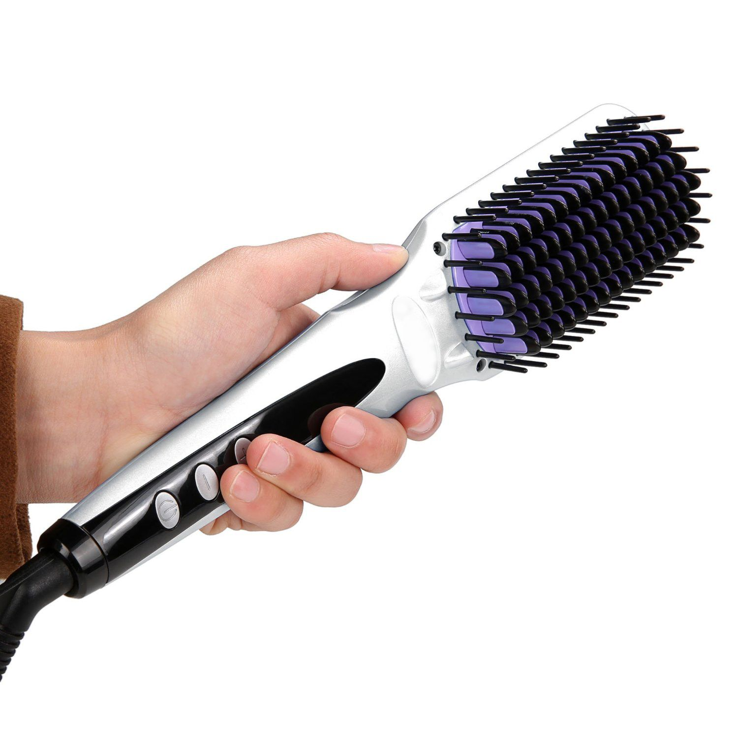 Electra Hair Brush Straightener Review Natural straight