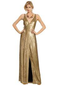 Diane Von Furstenberg Clarice Gold Sequin Gown. Love anything that sparkles