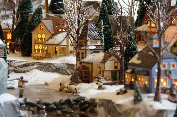 Miniature Christmas Village.Christmas Village Ideas Yacht Club Christmas Miniature