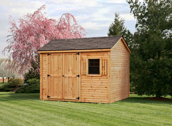 8x10 pine clapboard gable style shed log shed for Gable style shed