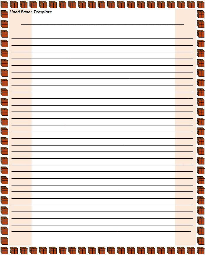 Lined Paper Template Wordstemplatesorg Pinterest Template - lined paper template for word