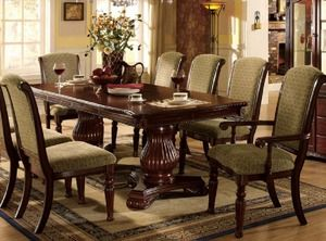 Majesta Formal Dark Cherry Double Pedestal Dining Table Cm3561T 78 Alluring Dark Cherry Dining Room Set Review