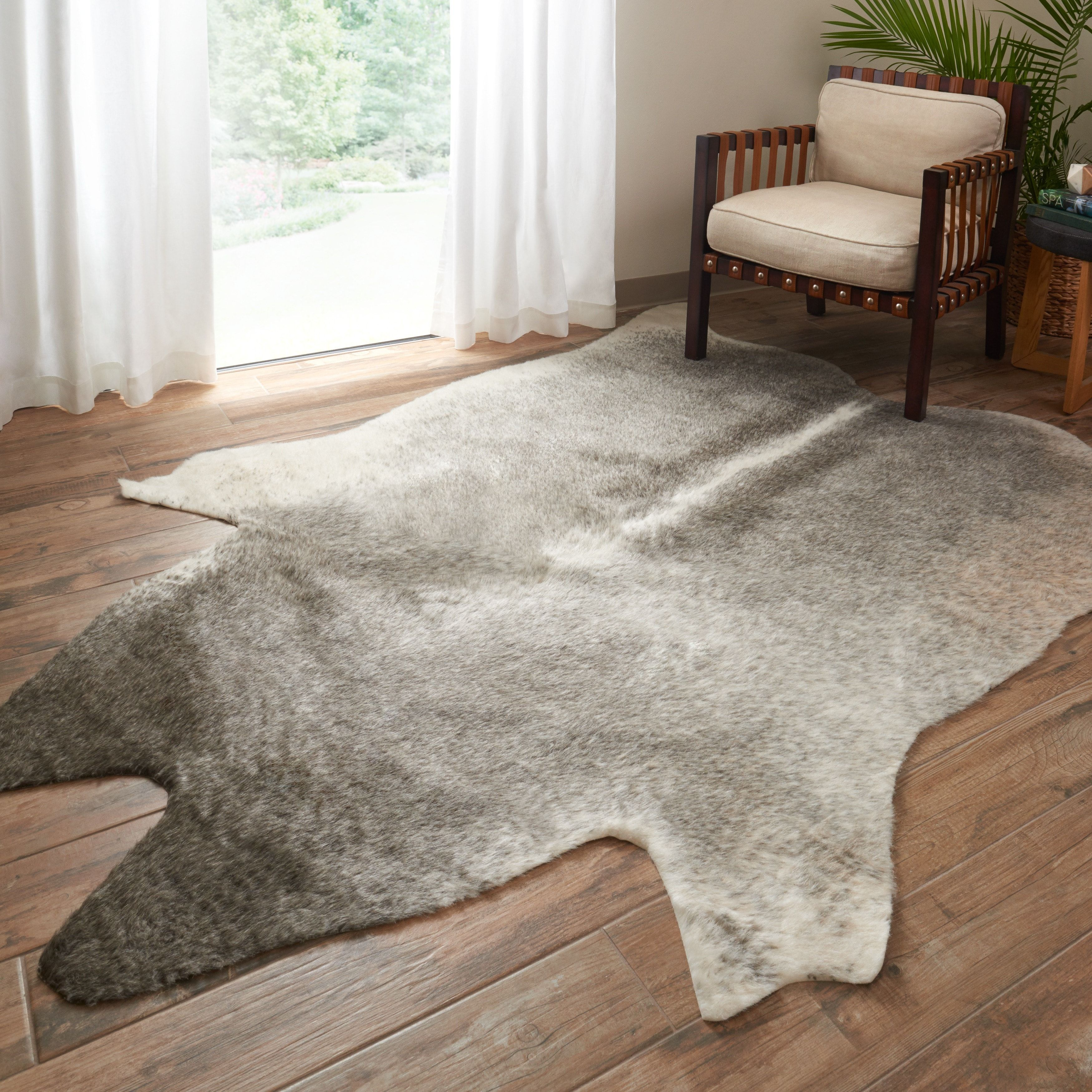 Faux Cowhide Grey Ivory Area Rug 5 X 6 6 Faux Cowhide Area Rug Faux Cowhide Rugs