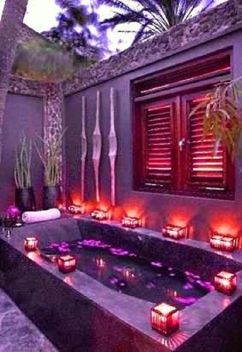 Purple Bath Tub