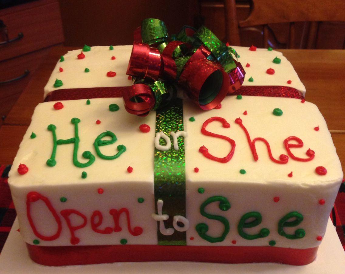Baby Reveal Cake Christmas Gender Reveal Gender Reveal Cake Baby Reveal Cakes