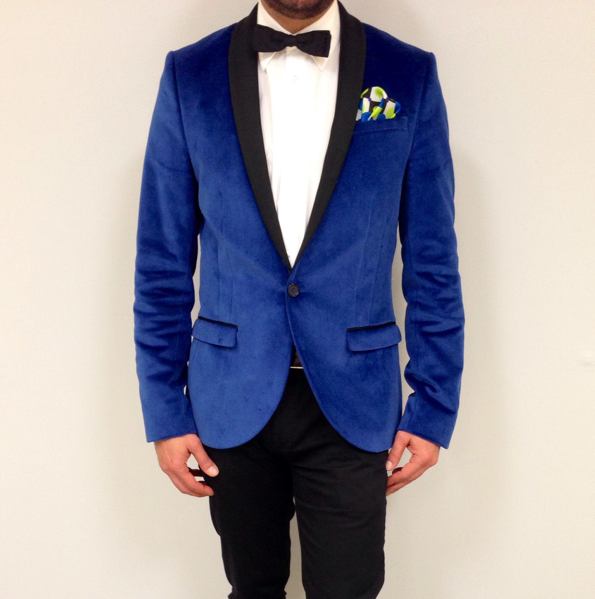 Royal Blue Velvet Tuxedo Blazer | Wedding Bells | Pinterest ...