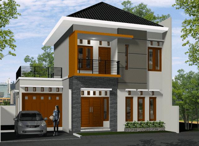 Contoh Desain Rumah Minimalis Type 70 Dua Lantai Desain Rumah 2 Lantai Desain Rumah Desain Rumah Minimalis