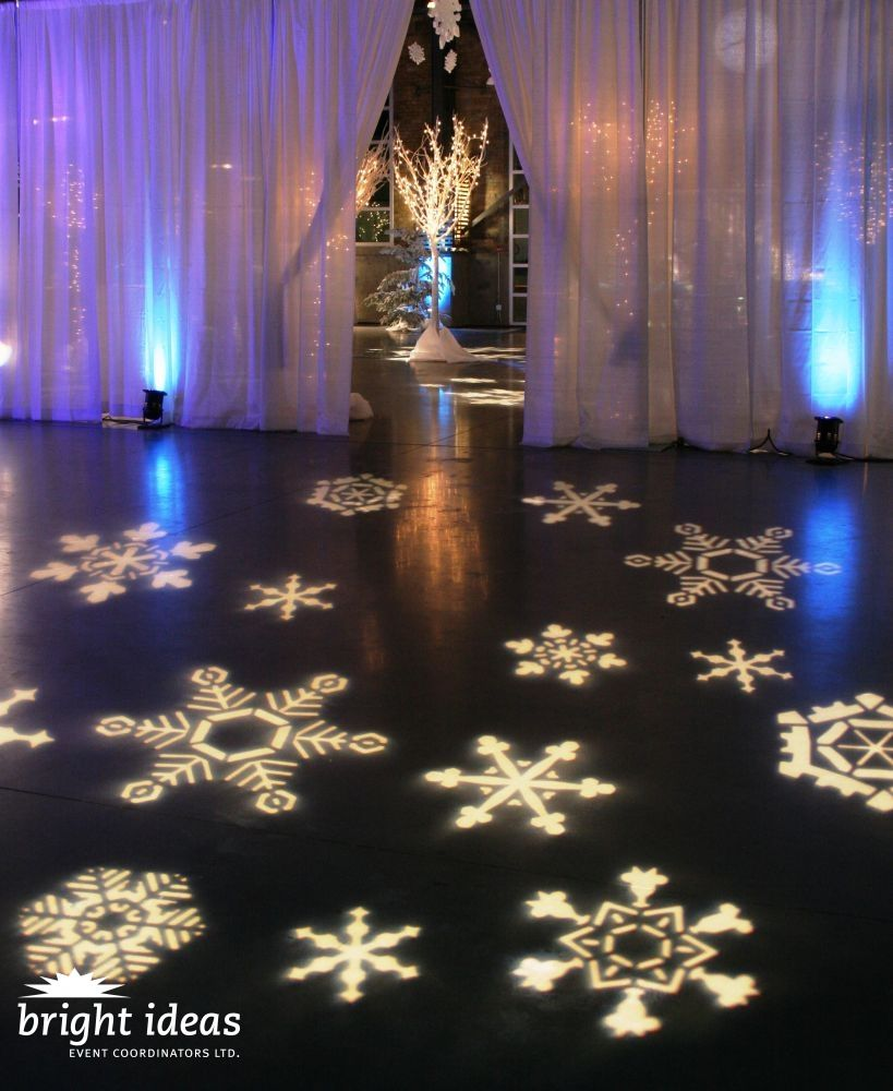 Themed special corporate events winter wonderland for Floor decoration ideas
